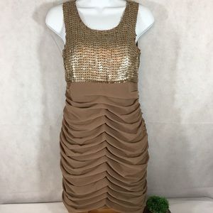 Miss Me Couture dress size medium. Caramel colored